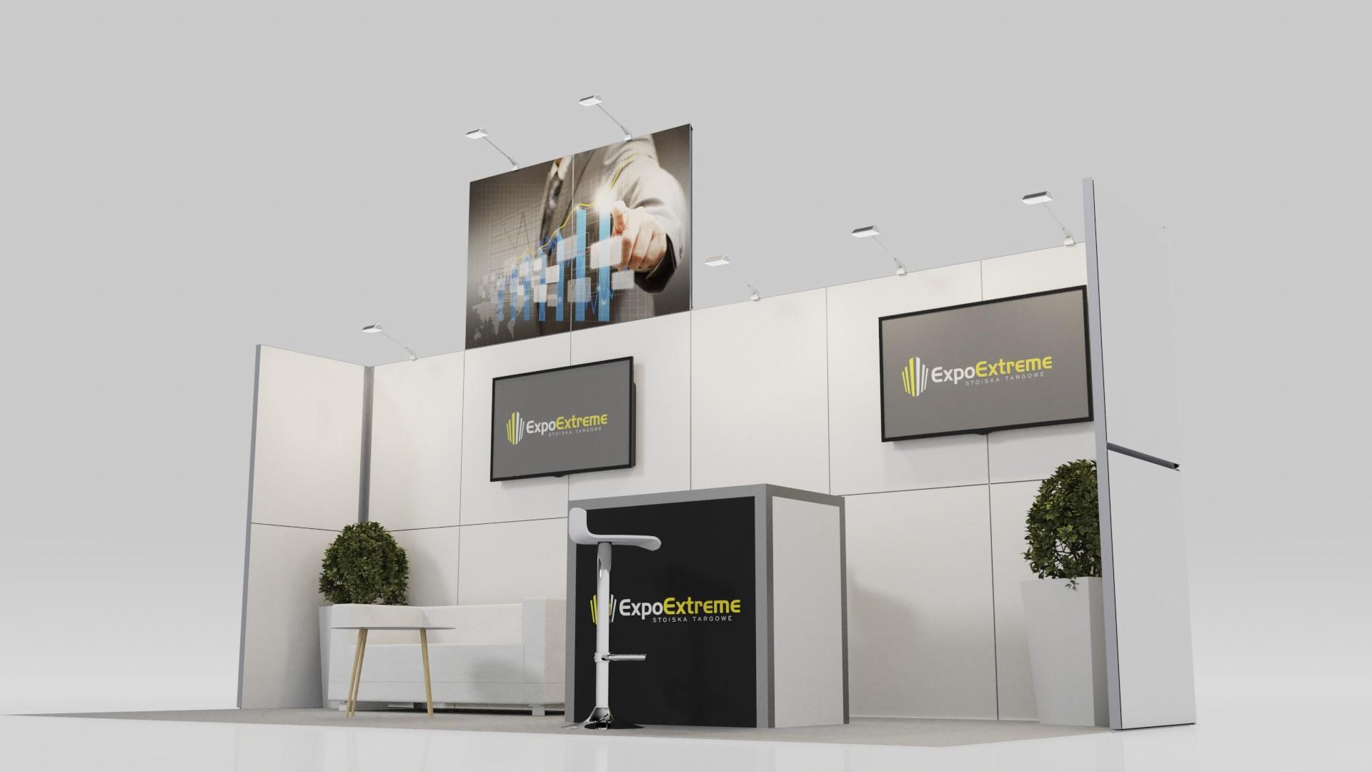 Małe modułowe stoisko konferencyjne